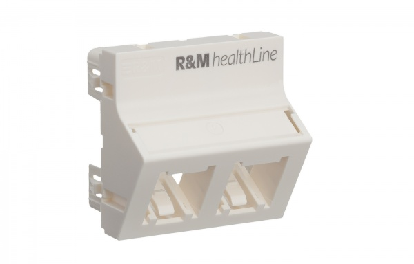 R842472 Mounting Plate 45×45,R&MhealthLine,2P,angled,wt