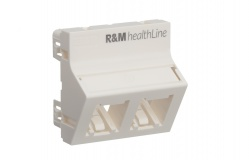 R842472 Mounting Plate 45×45, R&MhealthLine, 2P, angled